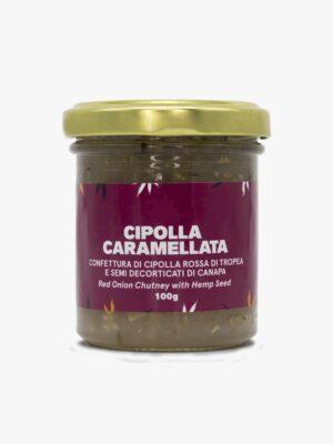 Cipolla caramellata con semi decorticati di canapa